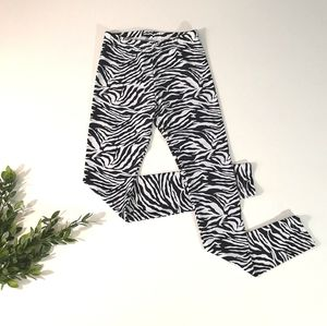 American Apparel zebra leggings